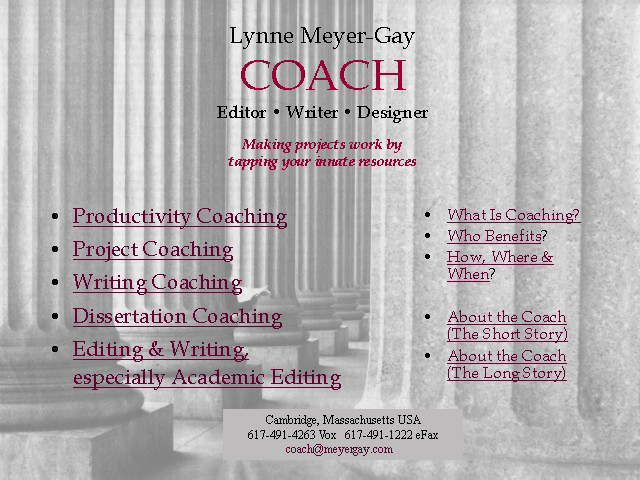 Lynne Meyer-Gay: Coach